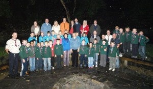 Pendle View Rotary Club help with camp fire circle